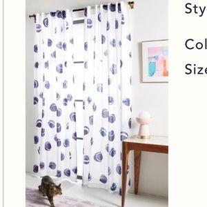 "Anthropologie Rhiannon curtains set of 2 108""x50"""